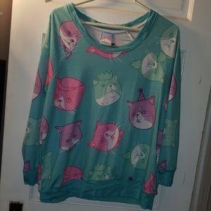 Japanla Japan LA cat sweatshirt